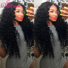 Shireen Hair Company Indiske Deep Wave Bundles Med Lukking 4 PCS Gratis Del Human Hair Extension Natural Color Remy Hair Weaving