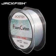 JACKFISH 300M Fluorocarbon Fishing Line  4-32LB Carbon Fiber Leader Line  fly fishing line pesca