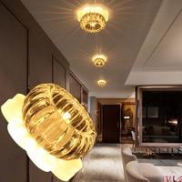 LAIMAIK 6W Modern LED Ceiling Light Square Crystal Led Lamps Aisle Corridor Balcony Light AC90 260V