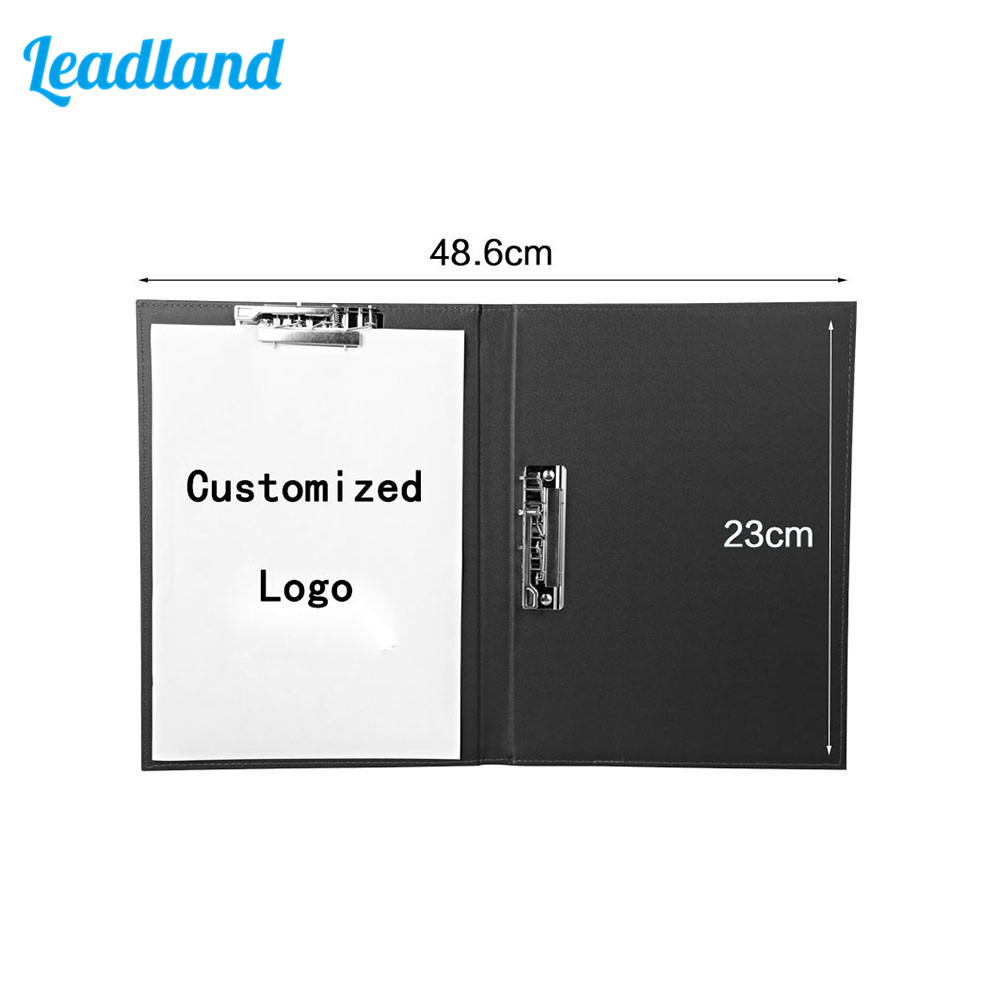A4 Professional Office Business Classical File Folder Portfolio Executive With Clip Board Document Organizer 2pcs lot plastic clip board clip file a4 a5 folder plate pad metal bill clip report cover spine bar office stationery supplies