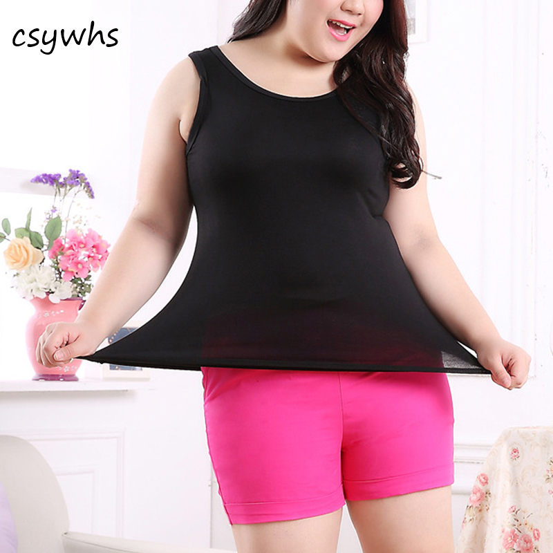 CSYWHS Summer Casual Womens   Tank     Tops   Plus Size Solid Color Modal Cotton Sleeveless Vest   Tank     Tops   T Shirt Basic Camis Big Size