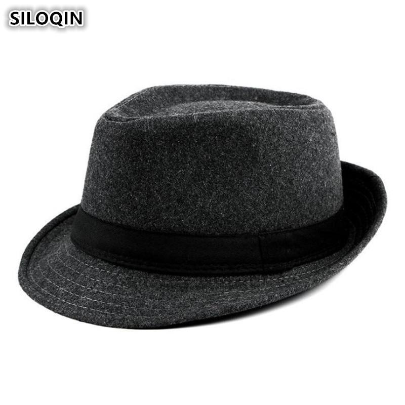 SILOQIN Mens Fedoras Hat Simple Elegant Womens Jazz 2019 New British Fashion Hats For Men And Women Snapback Couple Cap
