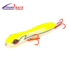 CRANK BAITS brand 100mm/16g Fishing Lure Snake Head Popper Bait Plastic Baits Peche Artificial Hard YB106