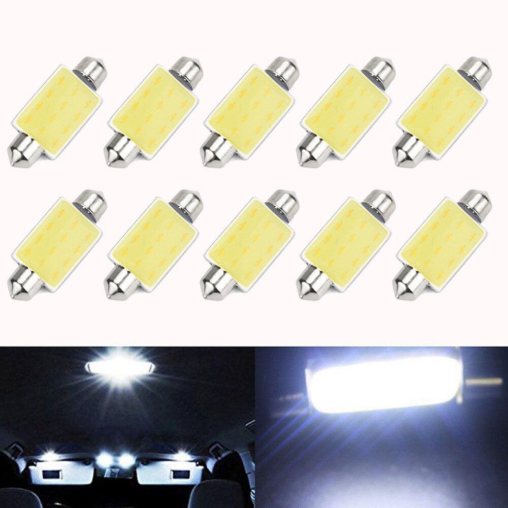 2019 NEW 10pcs 41mm 12SMD 1.5W COB LED Bulbs Car Festoon Reading Dome Map Light Bulbs For bmw e87 e83 e82 e70 e65 e61 e60 e53 N(China)
