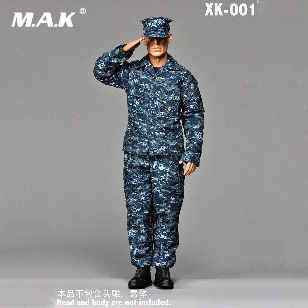 1:6 US NAVY Marine Camouflage Formazione Abbigliamento Vestiti Senza Corpo 1/6 Bilancia insieme Dei Vestiti