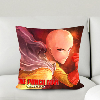 Oct. New Gift Home Textile One-Punch Man Anime Saitama Polyester One-sided Two-sided Square Pillow Case #40972