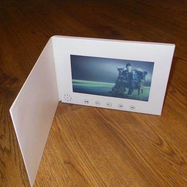 7インチ液晶画面8ギガバイトboolletユニバーサルビデオグリーティングカードファッションデザインプレーヤー見てパンフレット結婚式のためのギフト誕生日