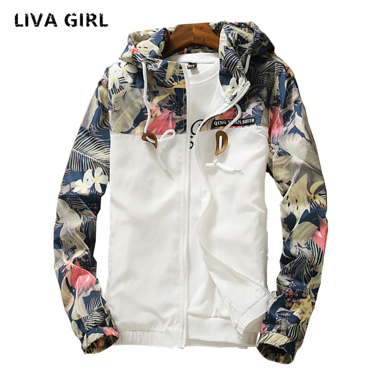 Liva fille 11.11.2018 floral blanc femmes veste d'hiver chaud bomber veste femmes vêtements manteau chandail coupe-vent plus la taille 5xl
