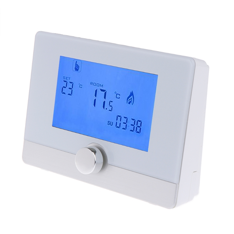 OOTDTY Programmable Digital Room Thermostat for Wall-hung Gas Boiler Heating System 5A gas boiler thermostat wall hung boiler heating thermostat programmable gas boiler thermostat for room 3a