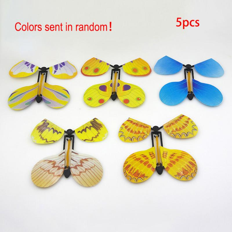 Creative Children Flying Butterfly Transmission Magic Prop Funny Tricks Classic Prank