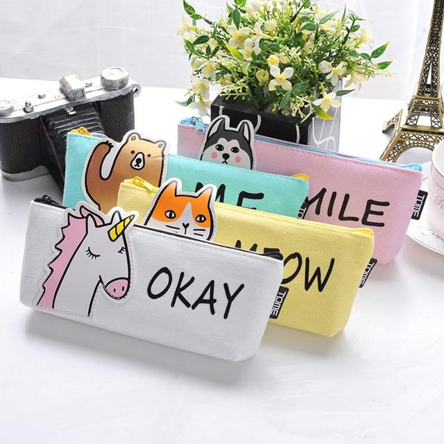 Okay-Me-Meow-Smile Cute Animal Mini Pouch