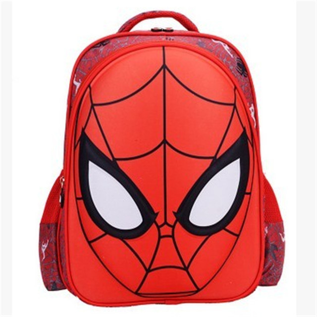 eb1959f235 New Hot Cartoon Spiderman Backpacks With Zipper Fashion Boy Cool Spiderman  Bag 3D Printing Mochila Primary
