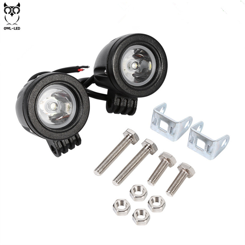 2pcs Car Light Assembly  Ip67 LED Headlight 12 Volt 10W LED Headlamp Driving Light For Harley Motorcycle Projector Headlights