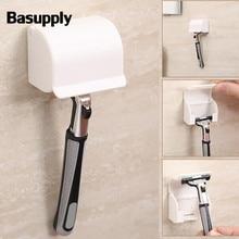 Basupply, 1 шт., новинка бритва, настенный держатель для ванной, бритва для бритвы, держатель для бритвы, держатель для бритвы, аксессуары для ванной комнаты