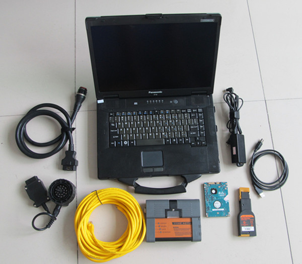 for bmw program tool diagnose icom a2 + laptop cf52 ram 4g + hard disk 500gb expert mode software windows7 ready to use ...