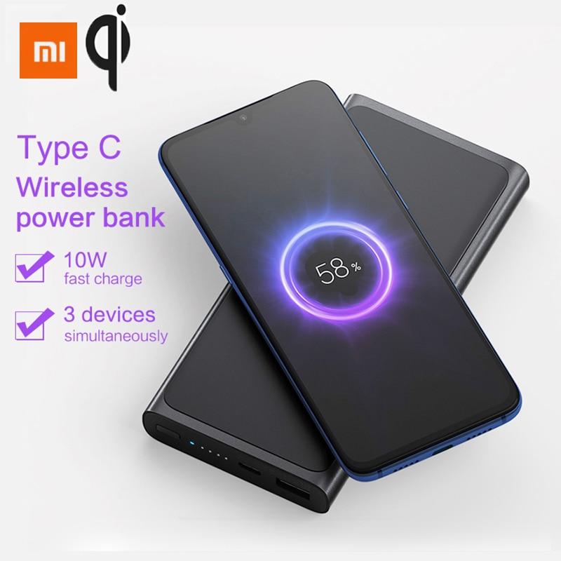 Xiao mi batterie externe sans fil 10000 mAh Qi chargeur sans fil rapide PLM11ZM USB type C mi Powerbank 10000 Portable charge batterie externe