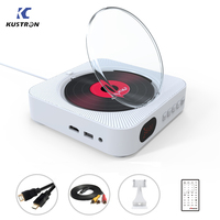 DVD Player Portable Home Audio Boombox HD Video With Remote Control FM Radio Built In HiFi