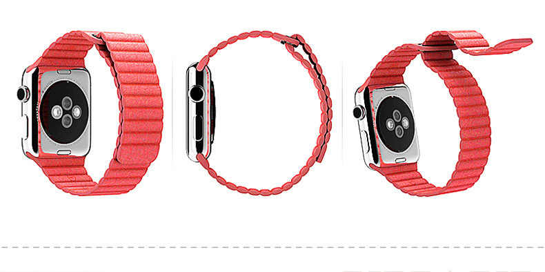 ФОТО For apple watch for casio strap iwatch leather sports watch with applewatch apple loopback strap 38mm 42mm new