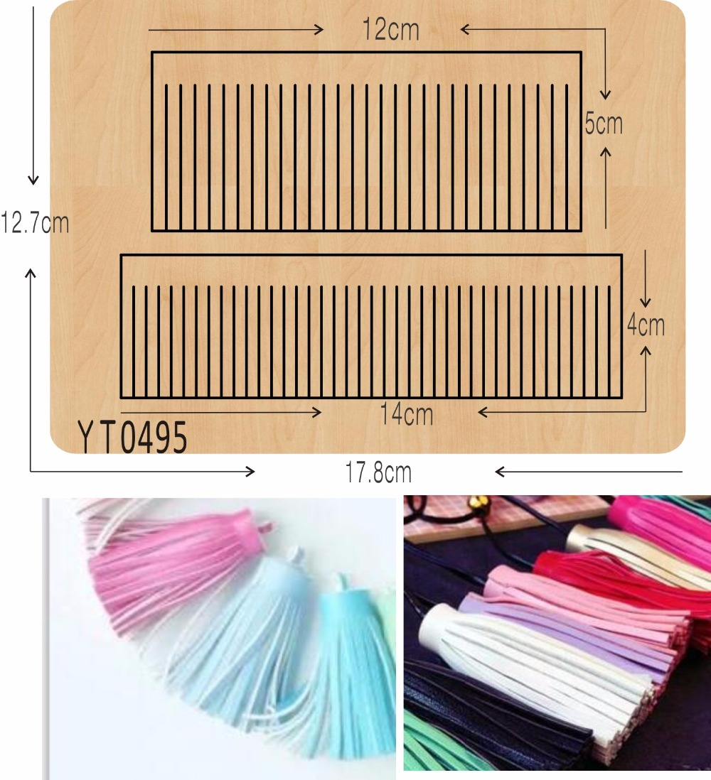 Tassels 4 DIY new wooden mould cutting dies for scrapbooking Thickness 15 8mm YT0495