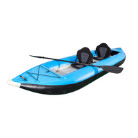 Double Ocean Inflatable Kayak PVC/Fishing Kayak/Small Canoe with Free Paddle&Seat