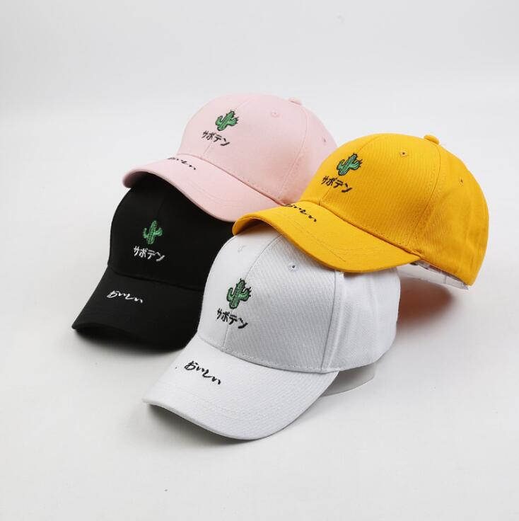 Japanese Plant cactus embroidery baseball cap for man women Summer Outdoor sunscreen hat snapback gorras dad hat casquette bone feitong summer baseball cap for men women embroidered mesh hats gorras hombre hats casual hip hop caps dad casquette trucker hat