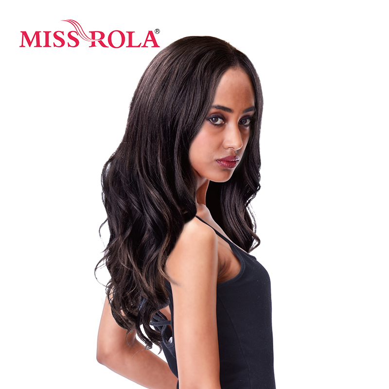 Miss Rola Japanese Kanekalon Synthetic Wigs 1Pcs/Lot Long Wavy Hair Wig Stripes Color 3D4/33/30# Women Wigs