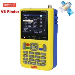 V8 مكتشف عالية الوضوح 1080P الأقمار الصناعية مكتشف dvb-s2 لايف FTA الأقمار الصناعية متر satfinder MPEG-2 MPEG-4 الأقمار الصناعية مكتشف إشارة