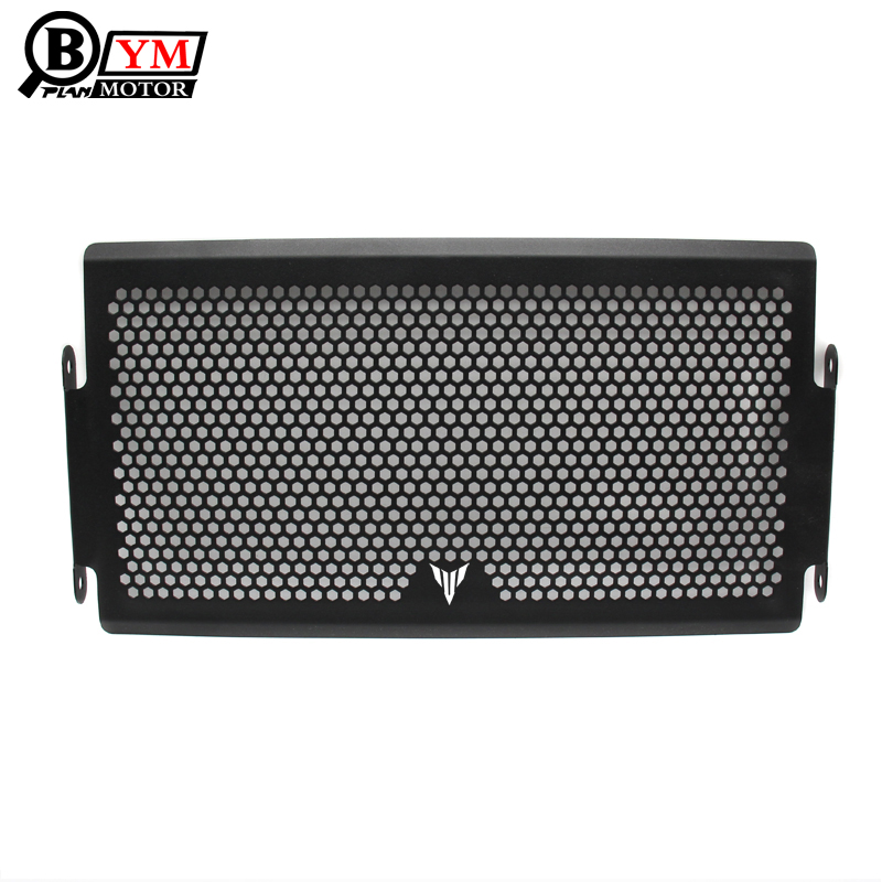 BEESCLOVER Stainless Steel Motorcycle Radiator Grille Guard for YAMAHA MT-07 MT07 14-18 black