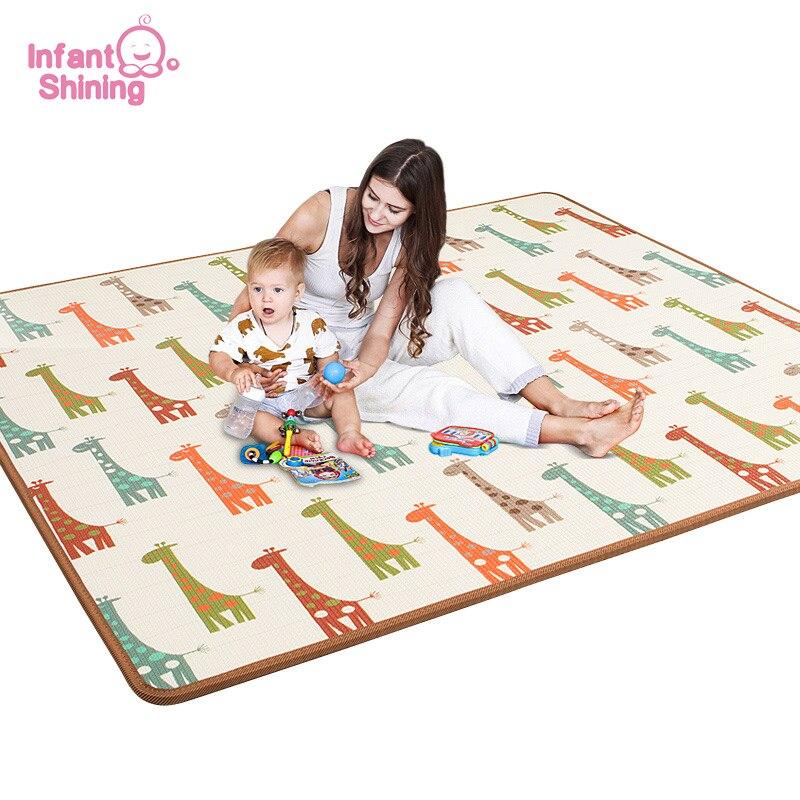 Блестящее детское игровое одеяло XPE для малышей, для гостиной, для малышей, для ползания, утолщенное, домашнее, для детей, складной коврик из ...