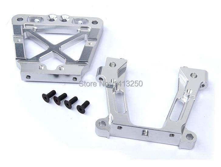 CNC metal rear bulk head set for 1/5 RC HPI BAJA Rovan King Motor 5B 5T 5SC 2.0 rc car parts plastic chrome 2x front and 2x rear wheel hub set for 1 5 hpi baja 5b 5t 5sc rc car parts