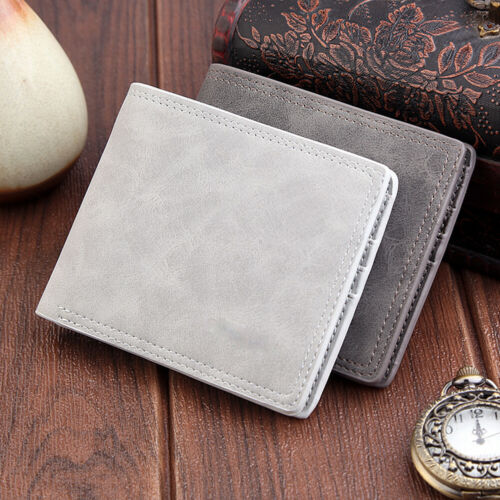 2020 Hot Men's Leather Bifold ID Card Holde…