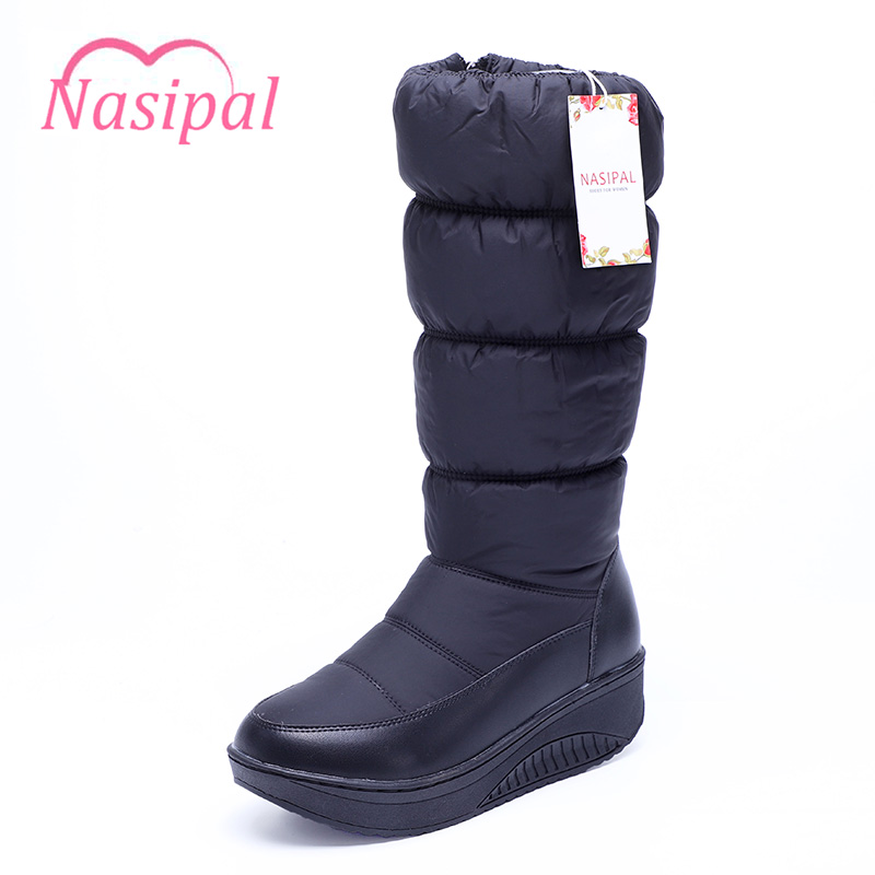 Nasipal New Arrival Russia Keep Warm Snow Boots 2017 Fashion Platform Fur Mid-calf Boots Warm Winter Boots For Women Shoes C112 new fashion winter snow boots women imitation fox fur snow boots mid calf winter shoes boots for women australia botas bls 056