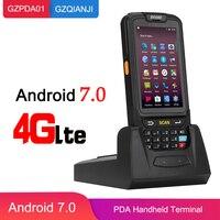 Android 7,0 ручной компьютер КПК устройство сбора данных планшет терминал Wi Fi 1D сканер штрихкодов с Bluetooth сканер 2D управление запасами склад