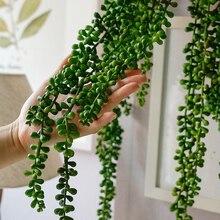 72 см реалистичные природы гирлянды настенный гибкий отель поддельные искусственные растения струны моделирования суккуленты офис Домашний декор