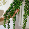 72CM Lifelike Nature Garland Wall Hanging Flexible Hotel Fake Artificial Plant String Simulation Succulents Office Home Decor
