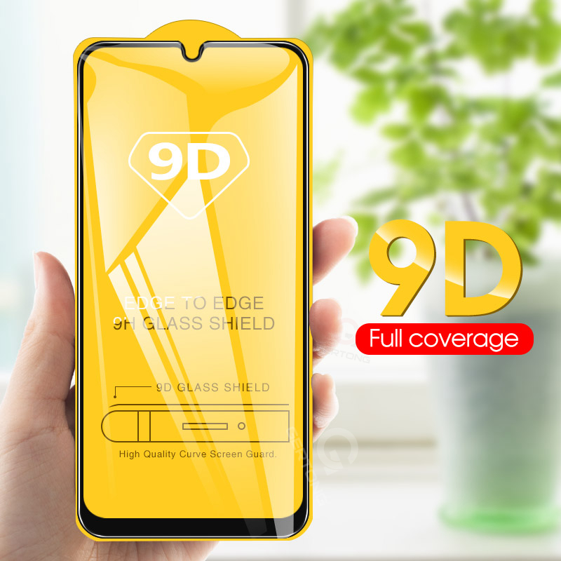 Mobile Phone - 9D Curved Tempered Glass on the For Samsung Galaxy A30 A50 A10 Screen Protector on For Samsung M10 M20 M30 Protective Glass Film
