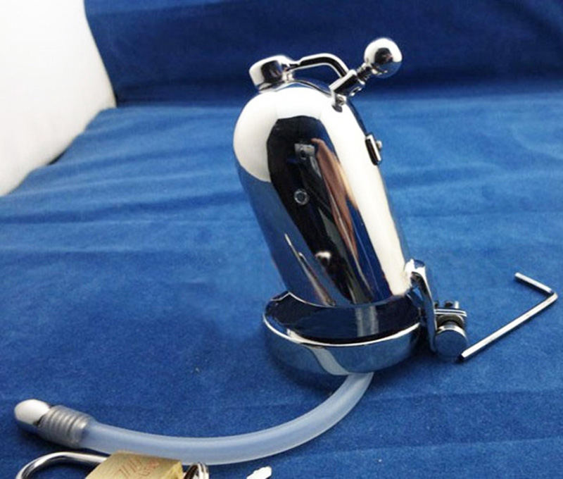 Newest Desige Male chastity device Stainless steel cock Cage Metal Cock Ring Sex Toys male chastity