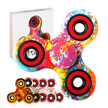 3D Hand Spinner Fidget TriSpinner Finger EDC Kids Autism ADHD Anxiety Stress Relief Focus Handspinner Toys Party Favor Gift