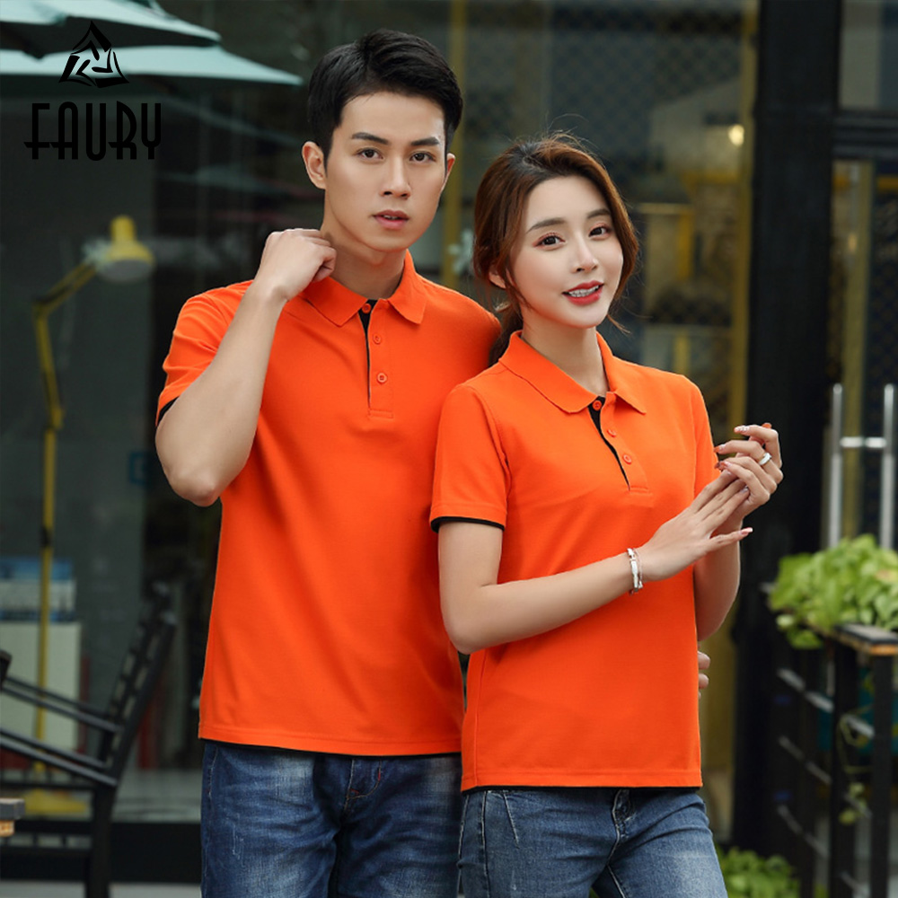 Men Women Waiter Waitress Uniforme Hotel Work Polo Collar Shirt Barbers Cafe Fast Food Supermarket Work Clothes 10 Colors