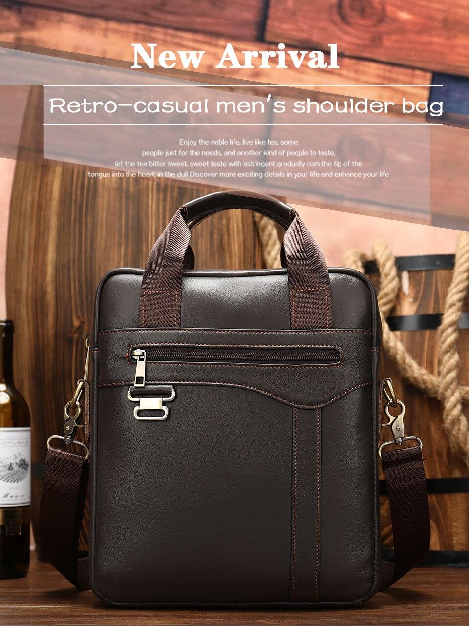 Men \' s Shoulder Bag Male Genuine Leather Crossbody Bags for Men Messenger Bag Casual Vintage Clutch Handbags bolsos 1