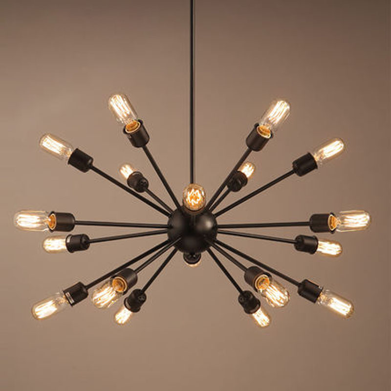 Modern Nordic Industrial Edison Chandelier Light Vintage Spider ...