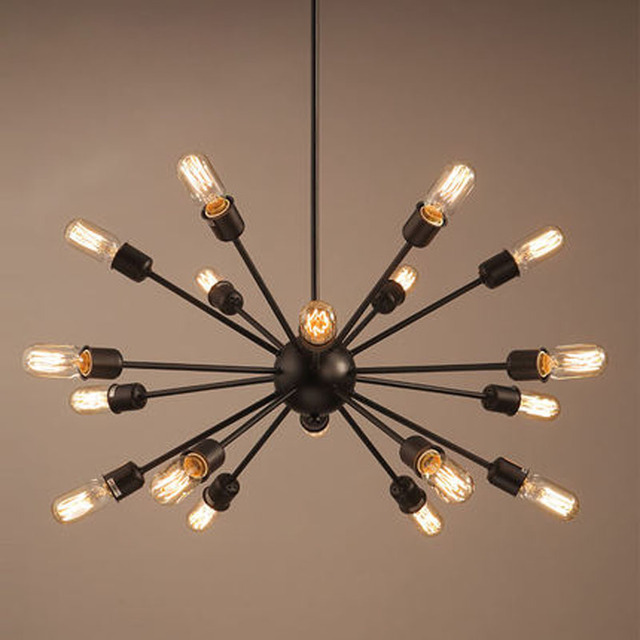 Modern nordic industrial edison chandelier light vintage spider modern nordic industrial edison chandelier light vintage spider pendant lamp loft antique adjustable diy edison home mozeypictures Images