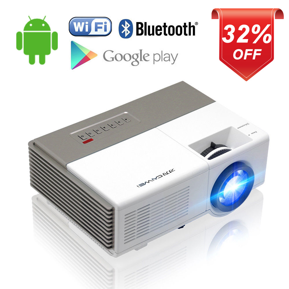 Mini LED Portable Android WiFi projecteur Home cinéma Bluetooth Miracast Airplay Full HD vidéo pour PC TV Smartphone projecteur HMDI