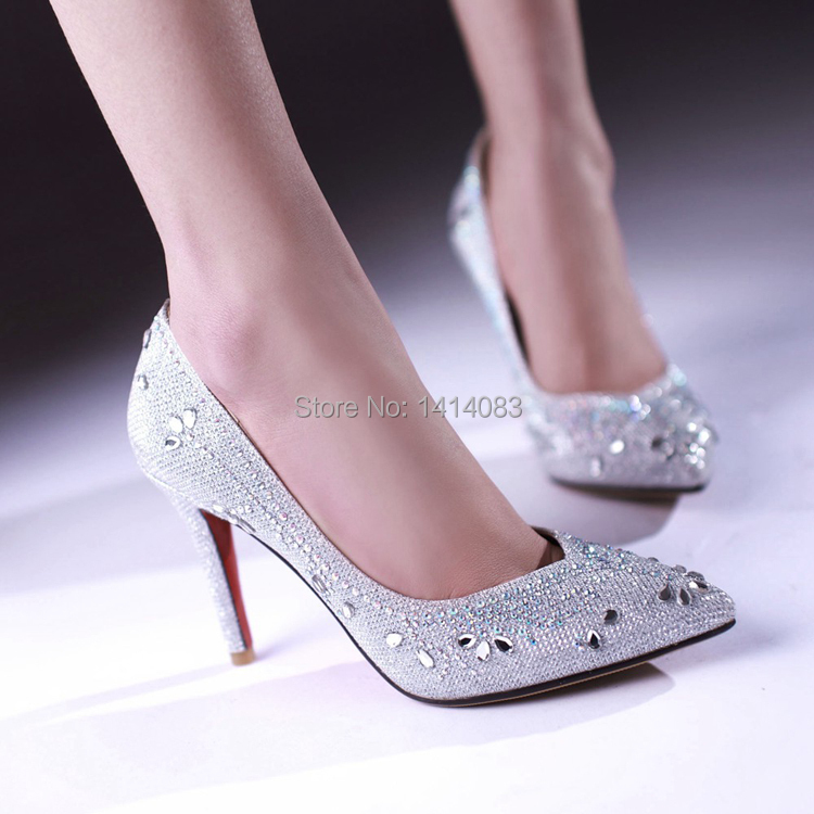 Online Get Cheap Silver Diamond Heels -Aliexpress.com | Alibaba Group