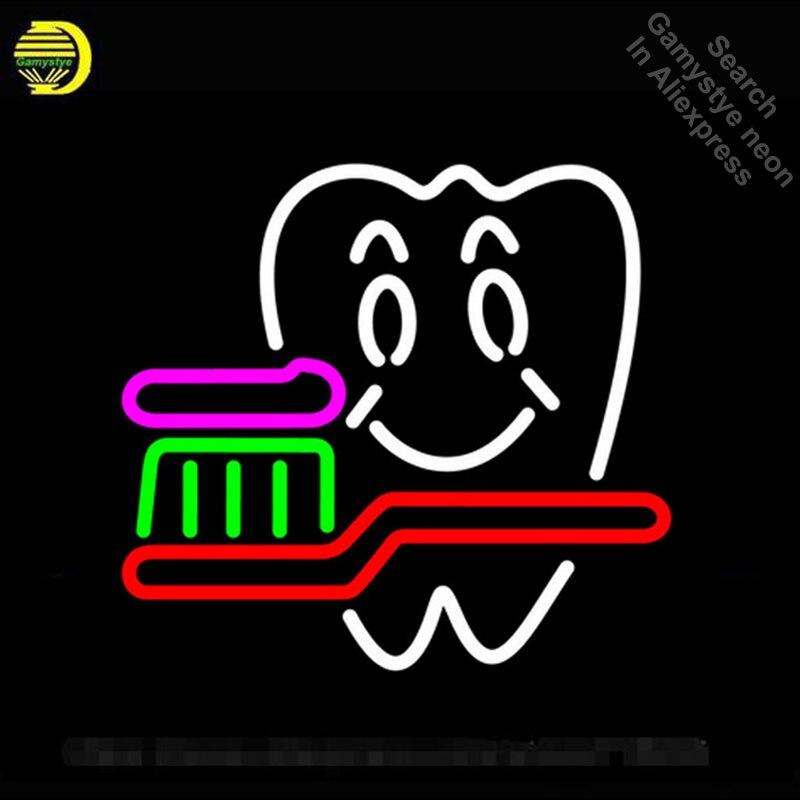 Неоновая вывеска Настоящее неоновое стекло лампа дантист Логотип Бар паба гитары магазин дисплей бесплатный дизайн знак ручной работы