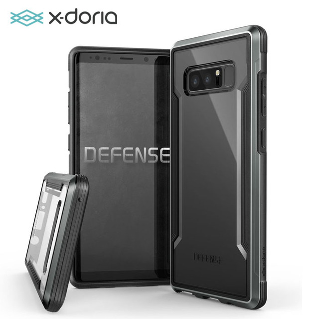 new style 9ec77 de1c9 US $27.99 |X doria Defense Shiled Case for Galaxy Note 8 Military Grade  Drop Tested, TPU & Aluminum Premium Protective Cover,4 Colors-in  Half-wrapped ...