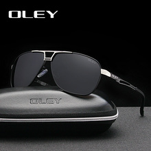 OLEY Fashion Brand Polarized Sunglasses Men Business Classic Pilot Sun Glasses Summer Driving Anti-Glare UV400 Goggles