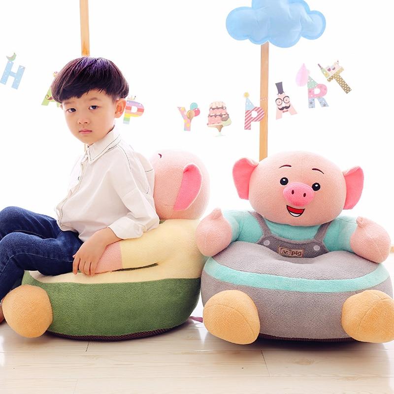 Bébé canapé siège avec coton surface et rembourrage de siège Enfants enfants jouets en peluche Peau-amical doux et confortable siège enfant