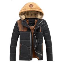 New Arrival Warm Cotton Padded Men's Winter Jackets Stand Collar Mens & Outwear Thicken Winter Parkas Male Size M-3XL