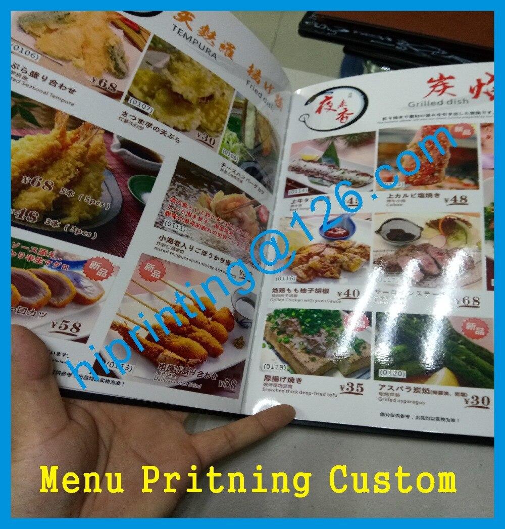 Menu printing customMenu printing custom